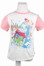 2015 frozen kid girl t-shirt children elsa and anna tee 2 colors