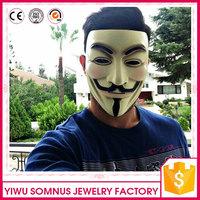 pvc halloween V facial mask plastic white V mask