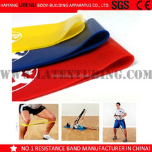 2015 hot sale customized stretch band exercise resistance loop band