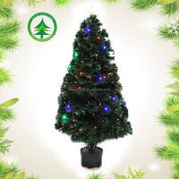 Top quality 5ft led fiber tree hotselling fiber optic christmas tree artificial spiral christmas tree