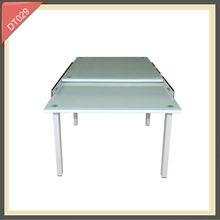 Muebles de vidrio extensibles para comedor, mesa para comedor de altura ajustable DT029