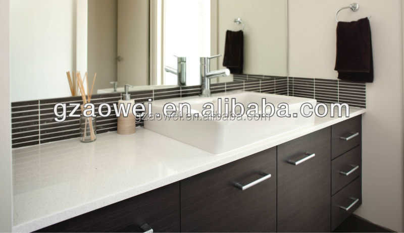 Engineered Stone Countertops Product : Ows engineered stone white countertop artificial marble