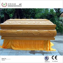Cuztomized services! Oak ash solid wood coffins for order