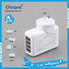 4 USB US Plug AC power Travel Home Charger 2.1A for Apple Samsung Cell Phone Pad