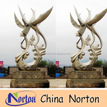 plaza decoration abstract outdoor stainless steel sculpture NTS-458S
