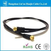 RG6 jumper cable with F gold connector