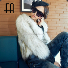 Factory direct wholesale lady's racoon fur knit jacket /raccoon fur knit coat