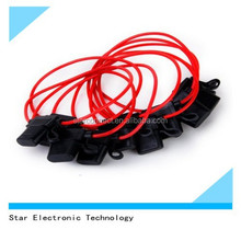 Newest car plastic auto mini blade inline fuse holder with red wire