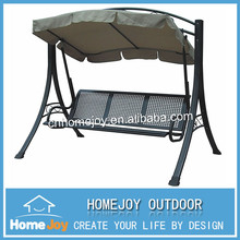 High quality metal frame 3 seat outdoor swing, garden swing, swing chair