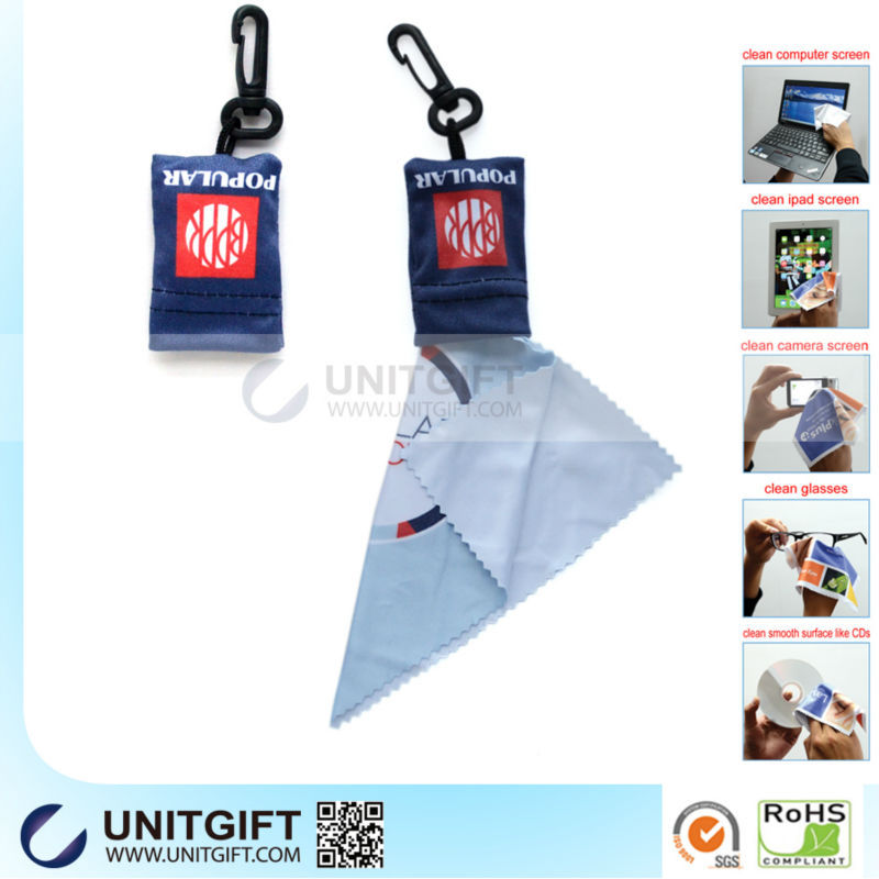 Soft microfibre lens cleaning cloth