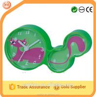 cute animal shape plastic table clock