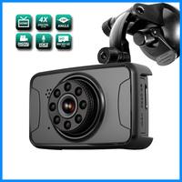 FHD car DVR, G-sensor dash cam radar detector with car dvr camera