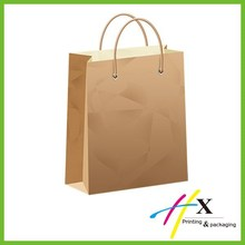 customized kraft paper bag with handle printed logo personal tailor