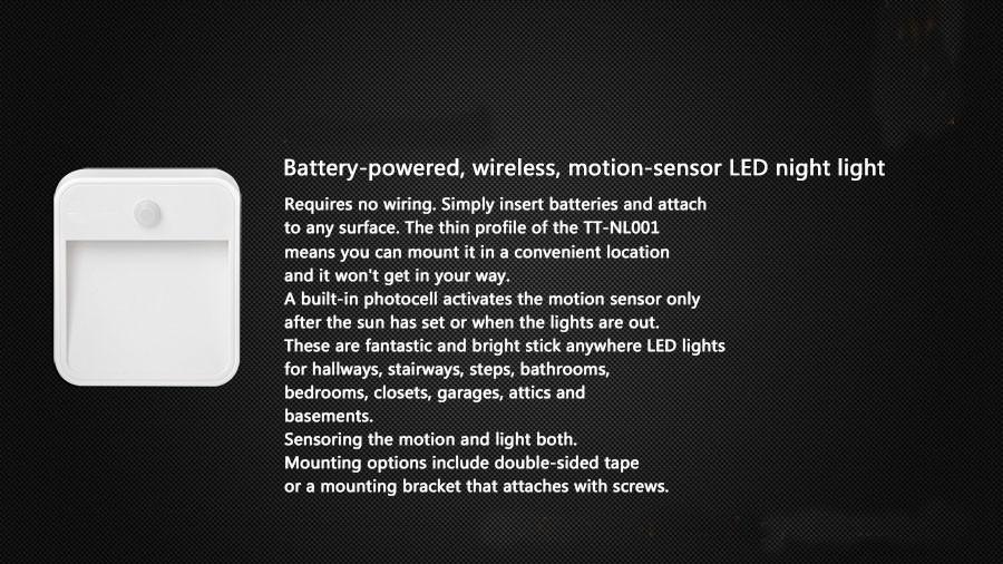 Привело Настенный Светильник в Помещении Свет SDX-15 Батарейках Светодиодный Датчик Света