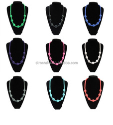 Low price Crazy Selling food grade baby teeth necklace silicone