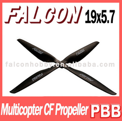 19x5.7 multicopter cw ccw CF propeller