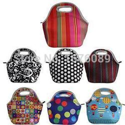 100% Neoprene Cooler Insulation Waterproof Thermal Lunch Bags for Women Kids