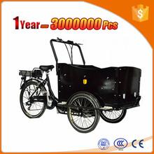 Dutch mid motor cargo bike family use