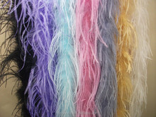 New Style Fashion Mix Colors 200cm Ostrich Feather Boa For Decorate