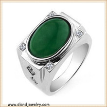 Fashion design superior quality sterling silver turquoise ring, wide silver rings with stones