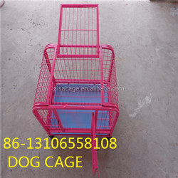 cheap price foldable dog crate house cage with wheel for sale