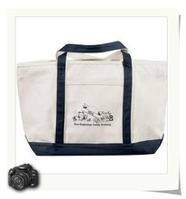 Classic Cotton Zippered canvas tote shopping bag