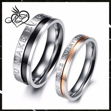 YOU MAKE EVERYDAY WONDERFUL Engraved Two Tone Lover Couple Stainless Steel Mens Ladies Promise Ring Wedding Band