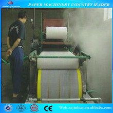 small waste paper recycling machine 787mm single dryer can and single cylinder mould tissue paper machine
