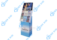 fashionable corrugated display perfume advertising display stands