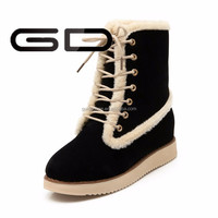 winter warm snow boots GD Fashion girls nice color women fashion boots