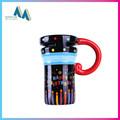 Hotselling diseño impresión taza de café decorativa