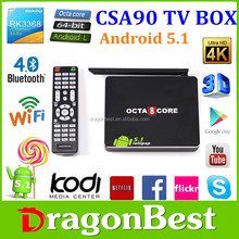 Google Android 5.1 Smart Tv Box Rockchip RK3368 Octa Core A53 G6110 GPU 2.4GHz/5.16GHz Wifi