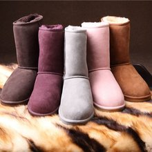Warm Winter Snow Classic Style Women Australia Sheepskin Boot