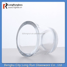 Custom made unbreakable glass candle holder China manufacturer