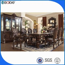 solid surface top extendable natural wood slab dining tables