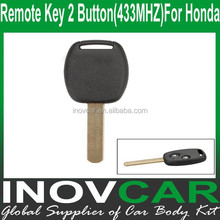 Remote Key 2 Button (433MHZ) For Honda Fit Car Remote Key