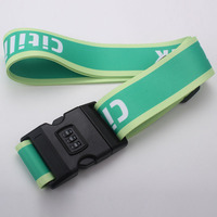 Top quality polyester travel luggage belt with lock