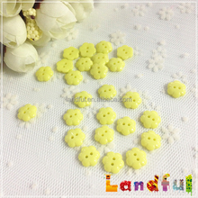 Cute Yellow Scrapbook Decoration Two Hole Flower Sewing Button