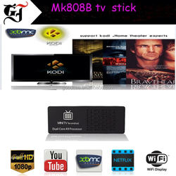 2015 bestselling MK808B RK3066 1GB RAM 8GB ROM android tv stick on set tv top
