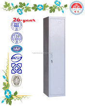 knock down grey color single door locker for school, hotel, office, gym