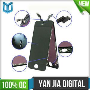 Al por mayor de alta calidad de las piezas del teléfono móvil de pantalla de cristal líquido, durante for iphone 5s la pantalla