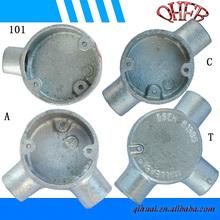 20mm -32mm galvanised iron round conduit box
