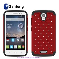 Wholesale products case for alactel one touch astro cell phone cover with jewels