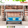 TG15-0156 Garden wicker furniture 3 seat outdoor swing sofa