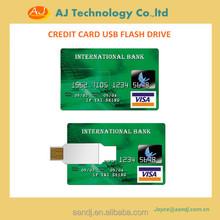 8GB 16GB 32GB Best promotion gifts credit card key flash drive customized printing usb flash drive