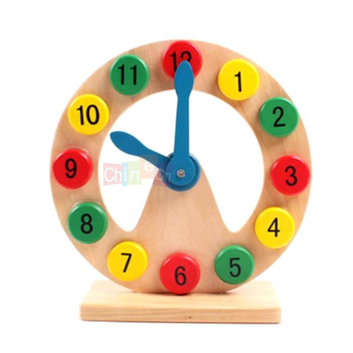 Toy Clock For Teaching Time Toys Wooden Clock Time