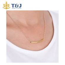 2015 Wholesale Alibabalady Lady Fashion Metal Chain Bar Necklace