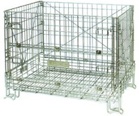 Warehouse industrial foldable wire mesh protective cages