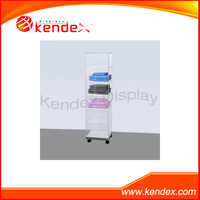 Guangdong factory clear acrylic display cabinet for clothing