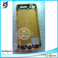 cell phone back housing for apple iphone5 gold housing